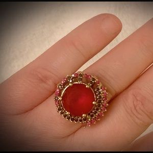 Jewelry - RUBY SAPPHIRE RING Size 10.5 Solid 925 Silver/Gold